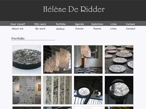 Website portfolio kunstenaar