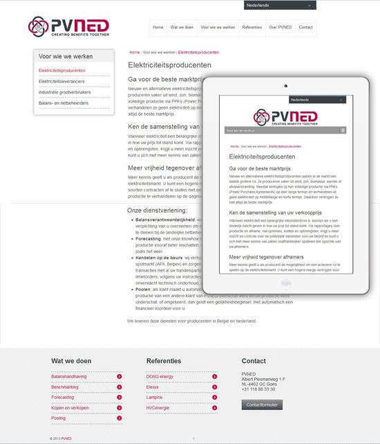pvned wordpress website responsive design