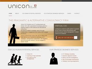 Unicon website in wordpress