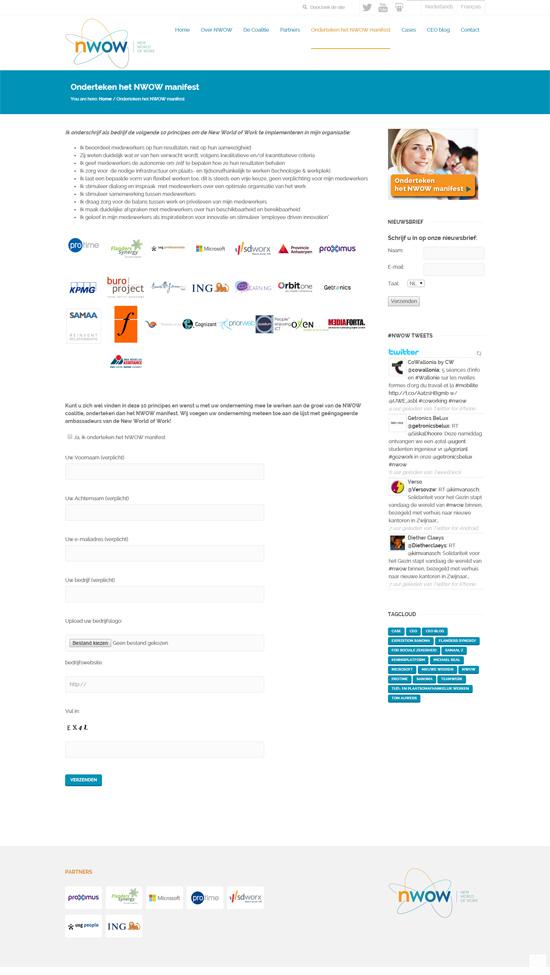 NWOW wordpress website