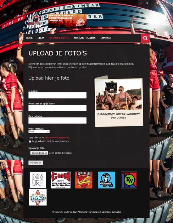 Jupiler festivalwebsite - wordpress