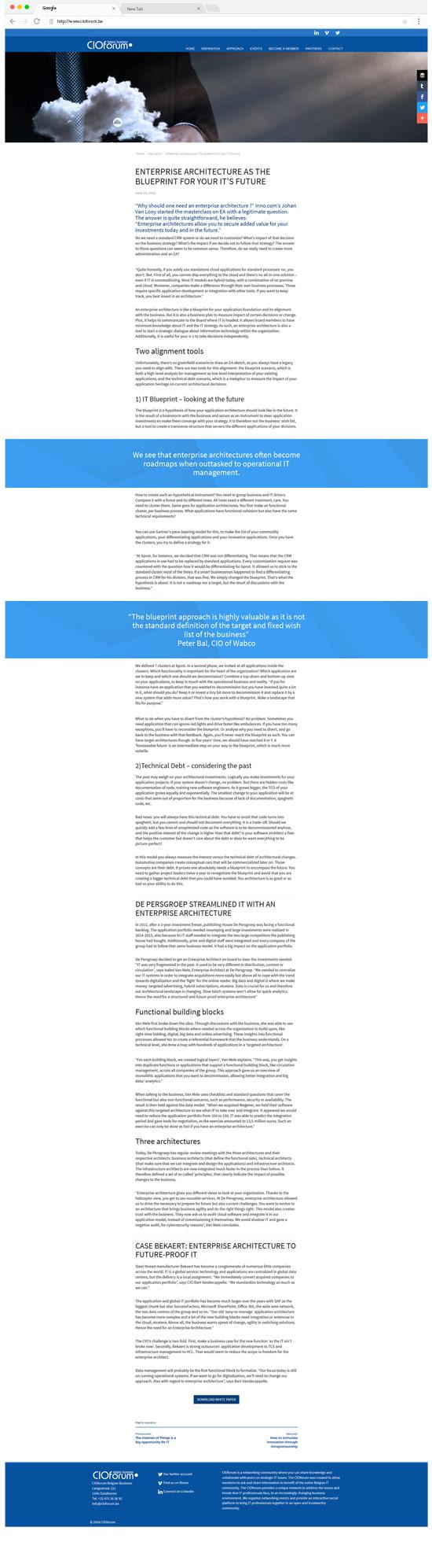 cioforum website artikelpagina
