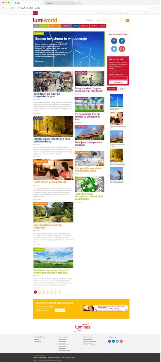 luminus-homepage